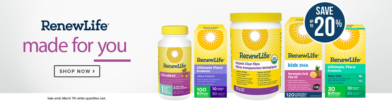 Save up to 20% Renew Life