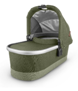 UPPAbaby V2 Bassinet Hazel Olive Silver Saddle Leather