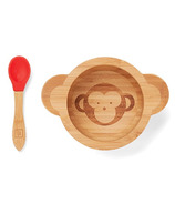 Red Rover Monkey Spoon and Bowl Set with Suction Base
