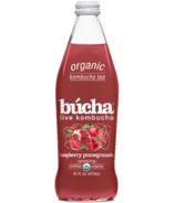 Bucha Sparkling Kombucha Tea Raspberry Pomegranate