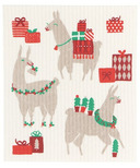 Now Designs Swedish Dishcloth Fa La La La Llama