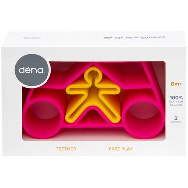 dena toys Pink Car Set Teether & Play Mate
