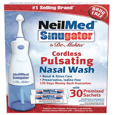 NeilMed Sinugator by Dr. Mehta Cordless Pulsating Nasal Wash