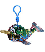 Ty Flippables Calypso the Multi Narwhal Sequin Clip