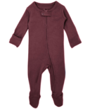 L'ovedbaby Organic Footed Zipper Jumpsuit Eggplant