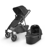 UPPAbaby VISTA V2 Stroller Jake Black Carbon Black Leather