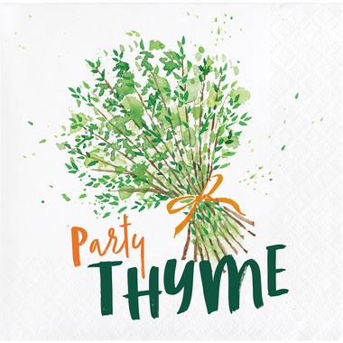 Elise Garden Humor 3 Ply Beverage Napkins Thyme