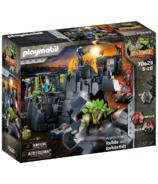 Playmobil rocher de dinosaure