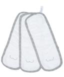 Juddlies Bamboo Bum Cloths White & Driftwood Grey