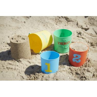 Melissa & Doug Seaside Sidekicks Nesting Pails Sand Toys