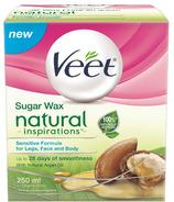 Veet Natural Inspirations cire chaude au sucre pour peaux sensibles