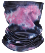 iScream Indigo and Pink Tie Dye Gaiter Face Mask