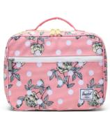 Herschel Supply Pop Quiz Lunch Box Polka Floral Peony