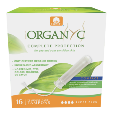 Organ(y)c Super Plus Organic Cotton Compact Applicator Tampons