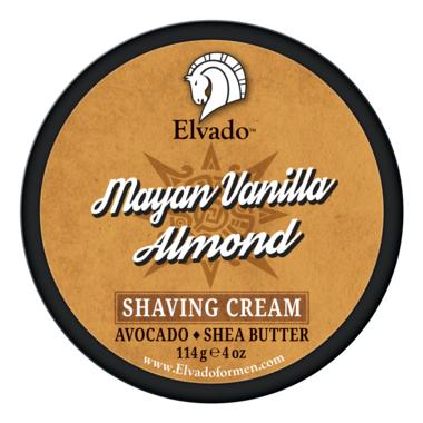 Elvado Mayan Vanilla Almond Shave Cream Jar