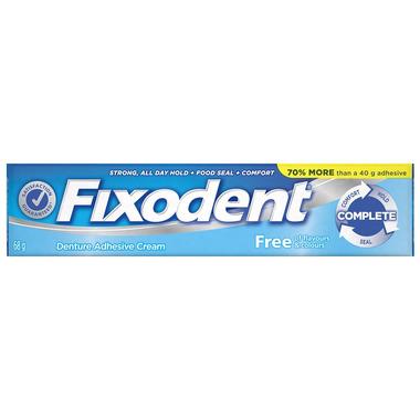Fixodent Complete Free Denture Adhesive Cream