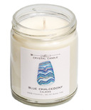JaxKelly Blue Chalcedoney Crystal Candle