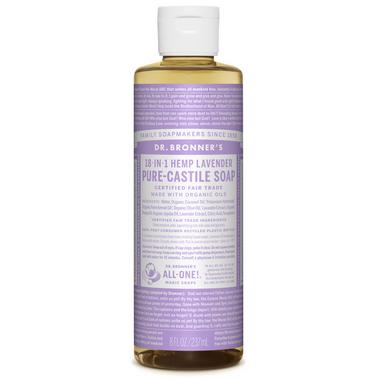 Dr. Bronner\'s Organic Pure Castile Liquid Soap Lavender 8 Oz