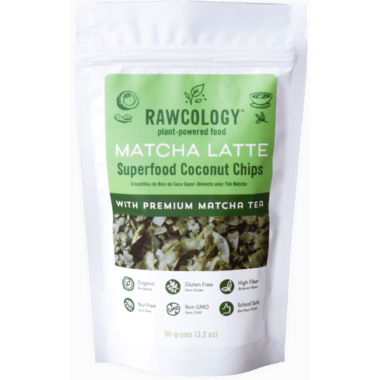 Rawcology Matcha Latte Superfood Coconut Chips