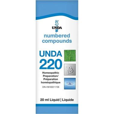 UNDA Numbered Compounds UNDA 220 Homeopathic Preparation