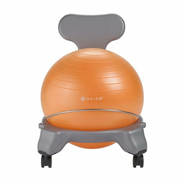 Gaiam Kids Classic Balance Ball Chair Grey & Orange