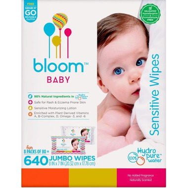 bloom BABY Senstive Wipes Bulk Box