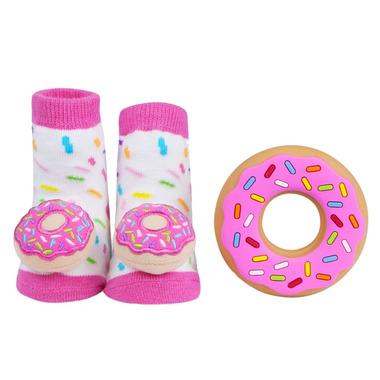 Waddle Donut Rattle Socks & Teether Gift Set