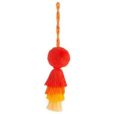 Shiraleah Topolino Tassel Charm Orange