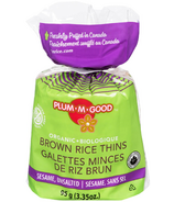 Plum.M.Good Organic Brown Rice Thins with Sesame Unsalted
