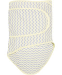 Miracle Blanket Grey Chevrons with Yellow Trim
