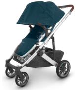 UPPAbaby CRUZ V2 Stroller Finn Deep Sea Silver Saddle Leather