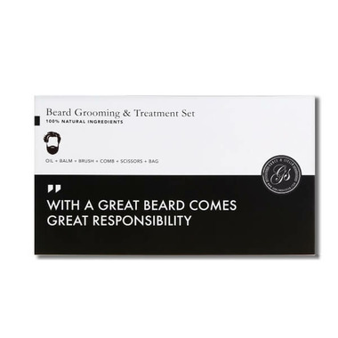 Grace & Stella Co. Beard Balm & Oil Grooming And Treatment Set
