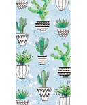 Elise Llama Fiesta Guest Towel 3 Ply Cactus and Sunglasses