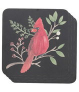 Now Designs Cork-Backed Coasters Winter Birds