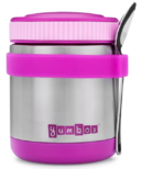 Yumbox Bijoux Purple Zuppa with Spoon and Silicone Band