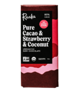 Raaka Pure Cacao & Strawberry & Coconut Unroasted Dark Chocolate