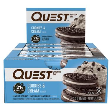Quest Nutrition Protein Bar Cookies & Cream Case