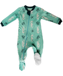 ZippyJamz Footed Organic Cotton Sleeper Captain Seahorse