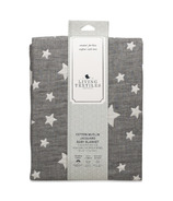 Living Textiles Cotton Muslin Jacquard Blanket Grey Star