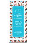 Barre de chocolat au lait aux amandes grillées de la Galerie au Chocolat