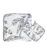 Nest Designs 4 Layer Bamboo Nesting Baby Blanket Feather White