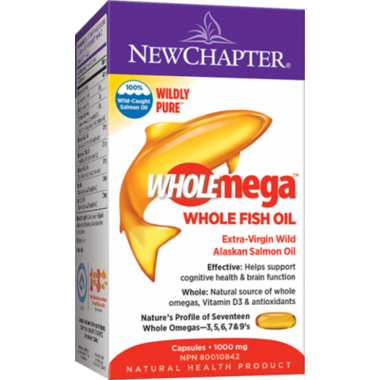New Chapter Wholemega Extra-Virgin Wild Alaskan Salmon Oil