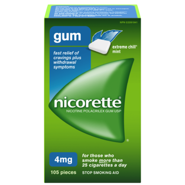 NICORETTE Gum EXTREME CHILL Mint 4mg