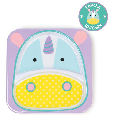 Skip Hop Zoo Tableware Melamine Plate Unicorn Design