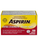 Aspirin 500 mg Extra Strength Tablets Large Bottle