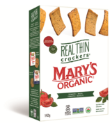 Mary's Organic Crackers Real Thin Tomato & Basil Crackers