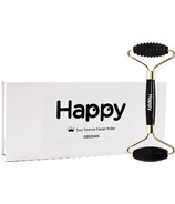 Happy Duo Texture Facial & Body Roller with Box Obsidian
