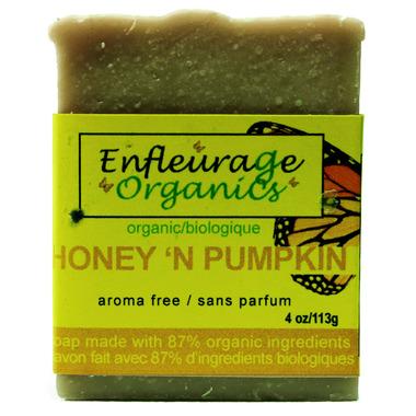 Enfleurage Organics Bar Soap Honey N\' Pumpkin