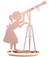 Kikkerland Stargazer Jewelry Stand Copper