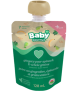Baby Gourmet Plus Gingery Pear, Spinach & Whole Grains Organic Baby Food